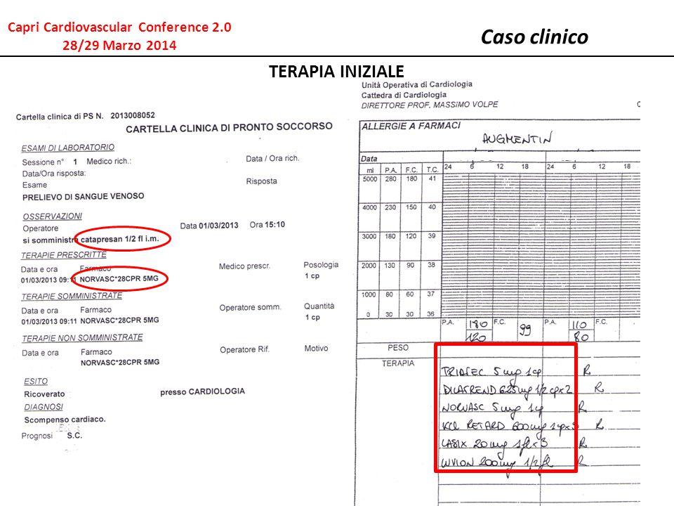 Caso clinico TERAPIA INIZIALE Capri Cardiovascular Conference 2.0 28/29 Marzo 2014