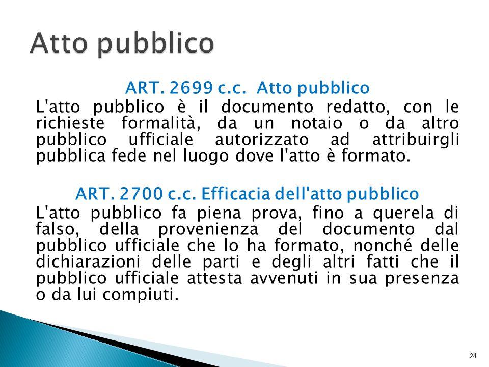 ART.2699 c.c.
