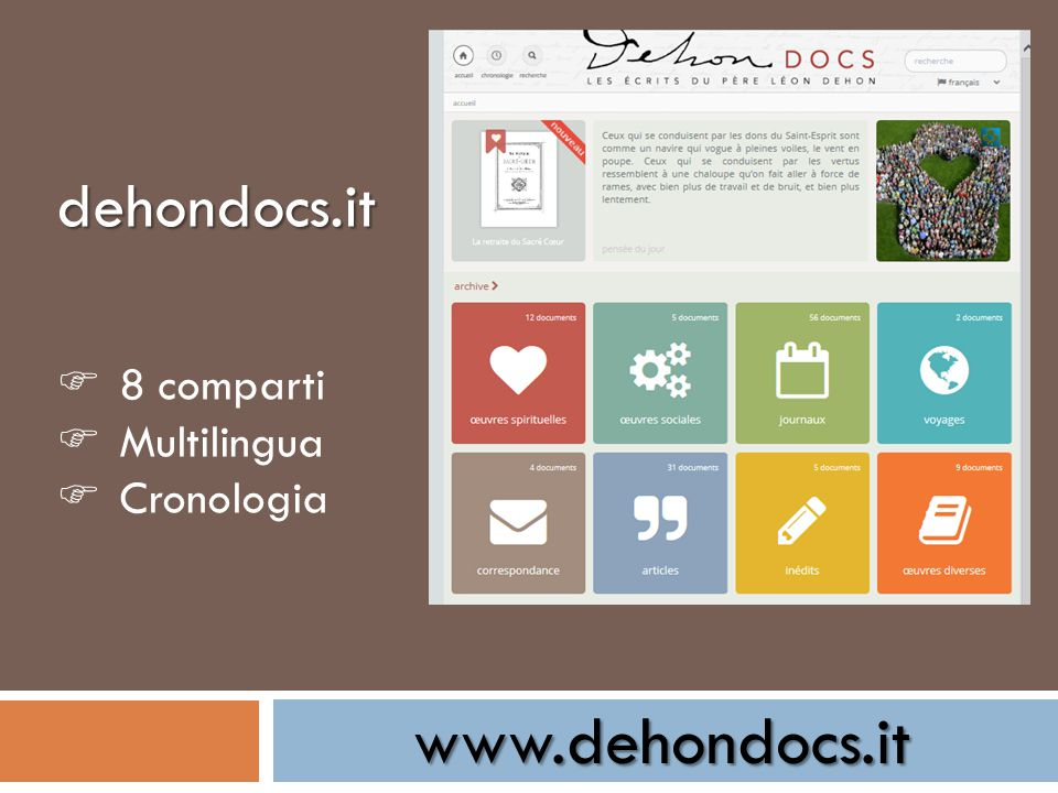 www.dehondocs.it dehondocs.it  8 comparti  Multilingua  Cronologia