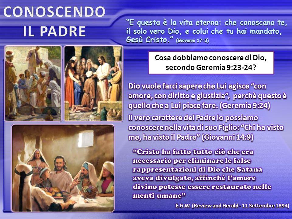 """""""E questa è la vita eterna: che conoscano te, il solo vero Dio, e colui che tu hai mandato, Gesù Cristo."""" (Giovanni 17:3) Cosa dobbiamo conoscere di D"""