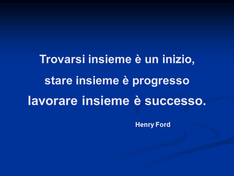lavorare insieme è successo. stare insieme è progresso Trovarsi insieme è un inizio, Henry Ford