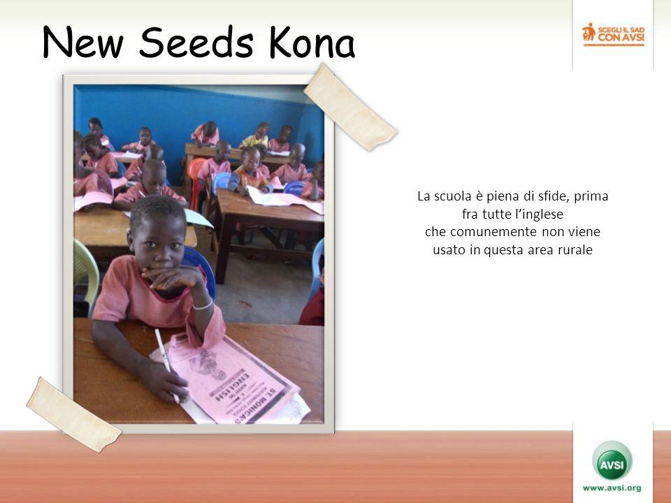 New Seeds Kona La scuola è piena di sfide, prima fra tutte l'inglese che comunemente non viene usato in questa area rurale