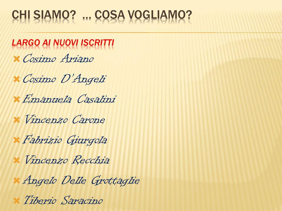  Cosimo Ariano  Cosimo D'Angeli  Emanuela Casalini  Vincenzo Carone  Fabrizio Giurgola  Vincenzo Recchia  Angelo Delle Grottaglie