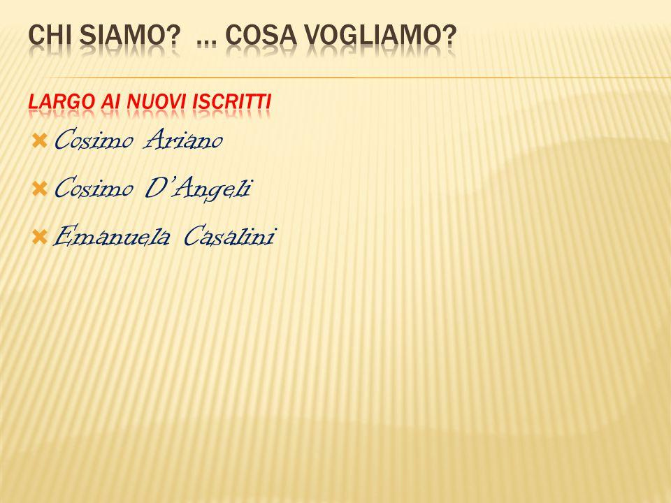  Cosimo Ariano  Cosimo D'Angeli  Emanuela Casalini