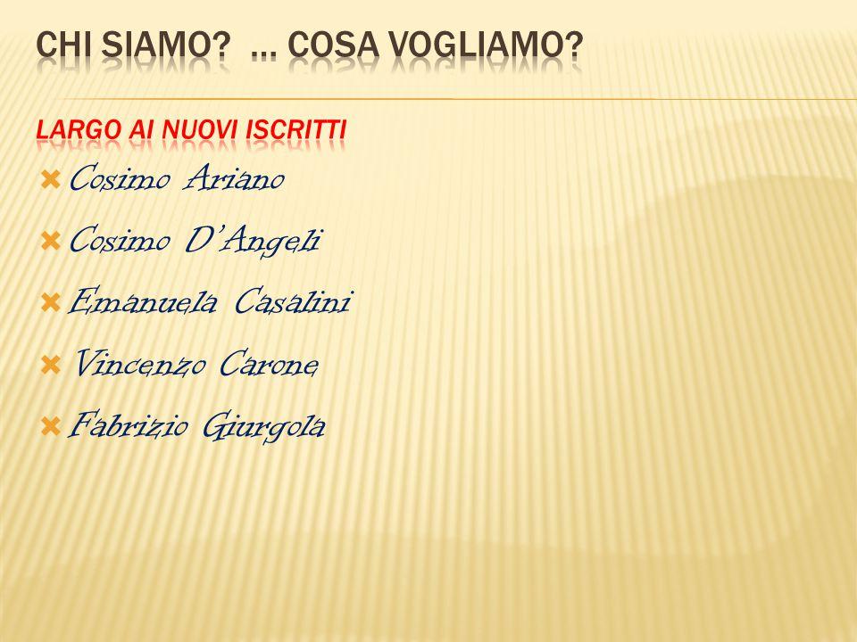  Cosimo Ariano  Cosimo D'Angeli  Emanuela Casalini  Vincenzo Carone