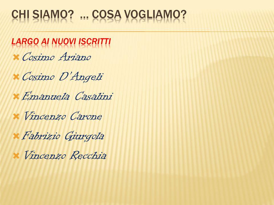  Cosimo Ariano  Cosimo D'Angeli  Emanuela Casalini  Vincenzo Carone  Fabrizio Giurgola