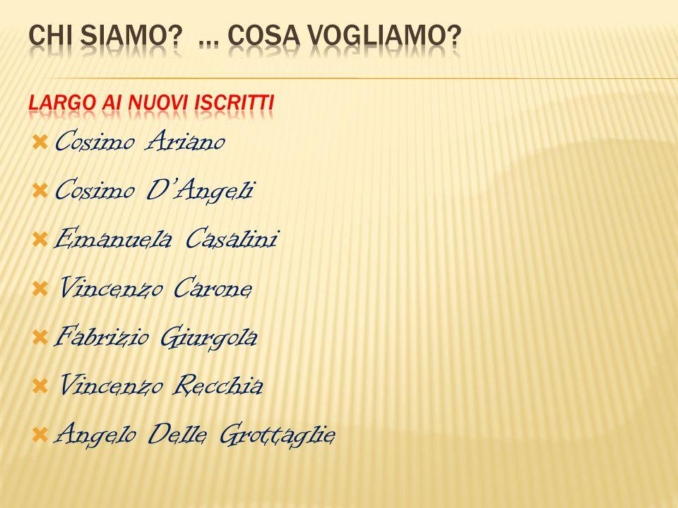  Cosimo Ariano  Cosimo D'Angeli  Emanuela Casalini  Vincenzo Carone  Fabrizio Giurgola  Vincenzo Recchia