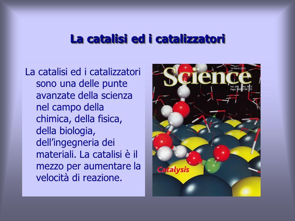 La catalisi ed i catalizzatori La catalisi ed i catalizzatori sono una delle punte avanzate della scienza nel campo della chimica, della fisica, della biologia, dell'ingegneria dei materiali.