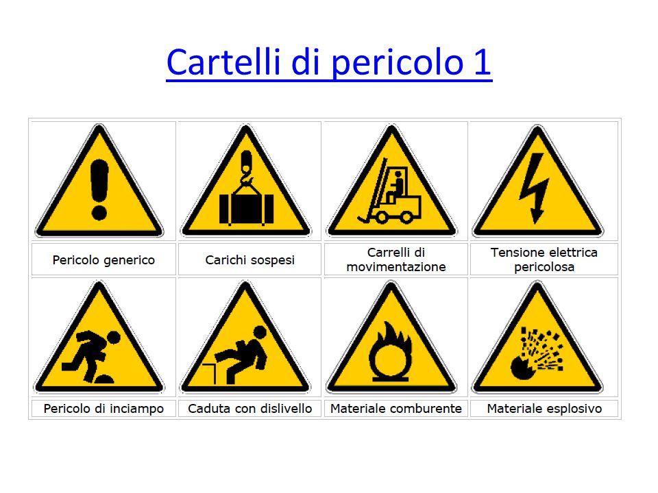 Cartelli di pericolo 1