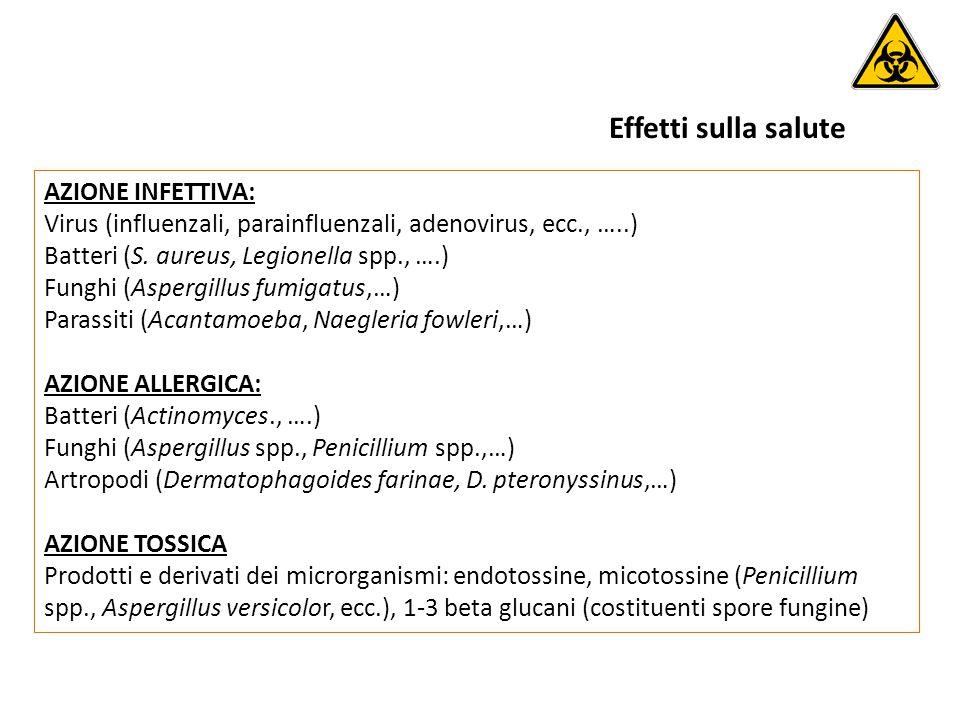 AZIONE INFETTIVA: Virus (influenzali, parainfluenzali, adenovirus, ecc., …..) Batteri (S.