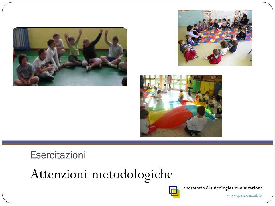 Esercitazioni Attenzioni metodologiche Laboratorio di Psicologia Comunicazione www.psicomlab.it