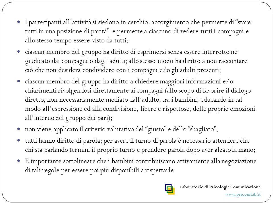 Esercitazioni Compito Laboratorio di Psicologia Comunicazione www.psicomlab.it