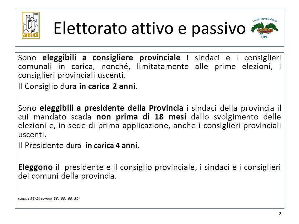 3 Il Presidente della Provincia Ciascun elettore vota per un solo candidato.