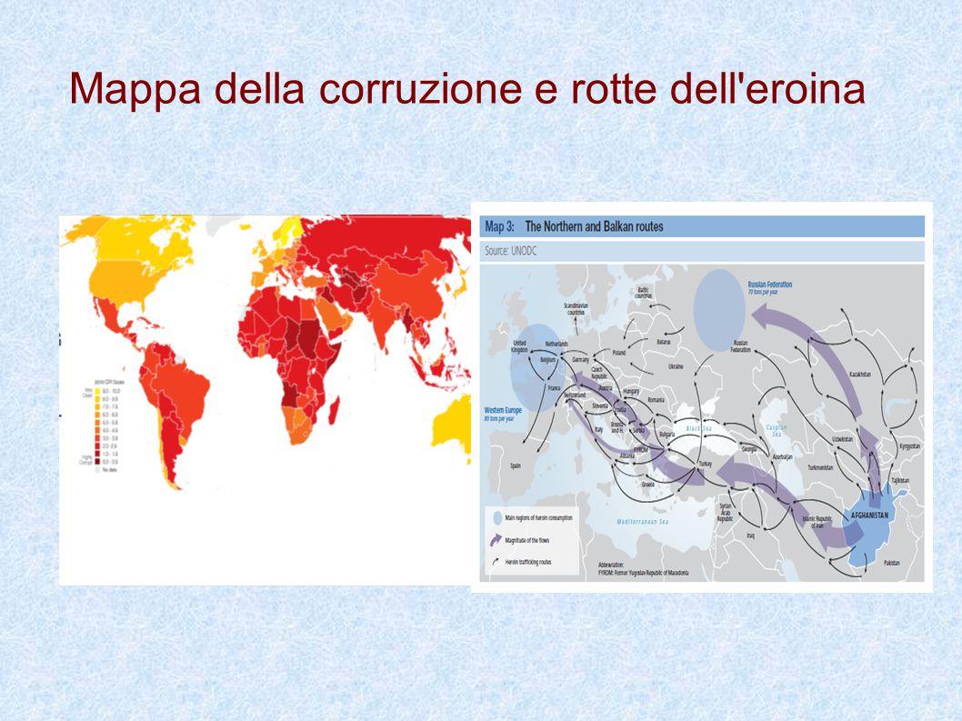 Mappa della corruzione e rotte dell'eroina