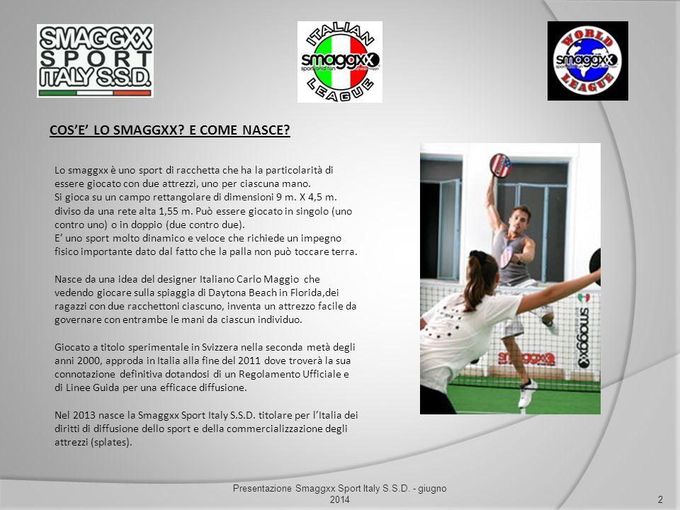 COS'E' LO SMAGGXX? E COME NASCE? 2 Presentazione Smaggxx Sport Italy S.S.D. - giugno 2014 Lo smaggxx è uno sport di racchetta che ha la particolarità