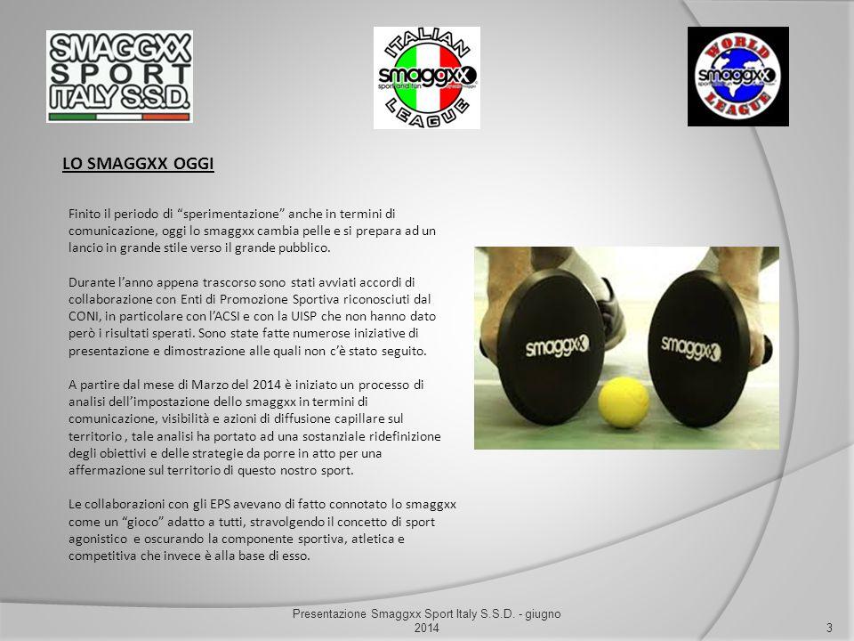 """LO SMAGGXX OGGI 3 Presentazione Smaggxx Sport Italy S.S.D. - giugno 2014 Finito il periodo di """"sperimentazione"""" anche in termini di comunicazione, ogg"""
