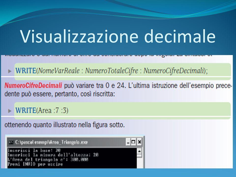 Visualizzazione decimale