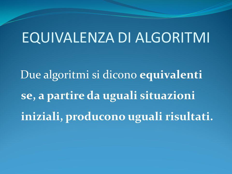 Teorema di Bohm-Jacopini Un qualsiasi algoritmo per quanto complesso, può sempre essere trasformato in un algoritmo a esso equivalente che utilizzi esclusivamente tre strutture di controllo (costrutti sintattici) fondamentali : sequenza, selezione e iterazione.