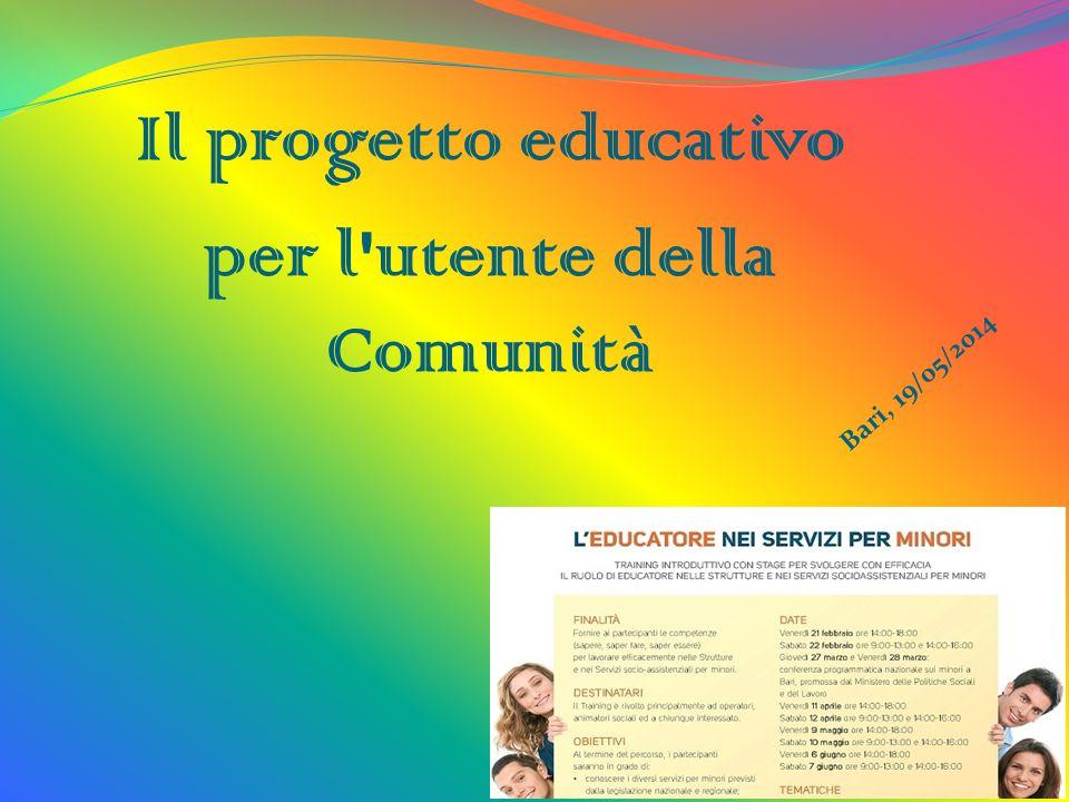 Il progetto educativo per l'utente della Comunità Bari, 19/05/2014