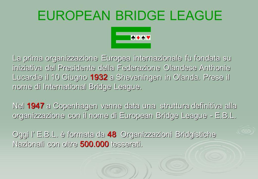 La prima organizzazione Europea internazionale fu fondata su iniziativa del Presidente della Federazione Olandese Anthonie Lucardie il 10 Giugno 1932