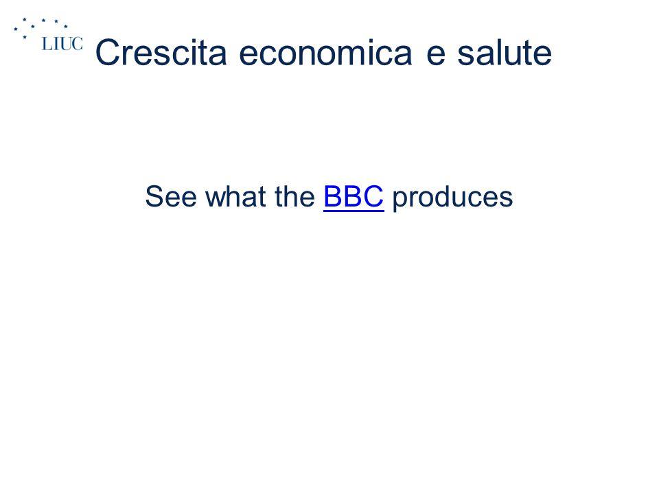 Crescita economica e salute See what the BBC producesBBC