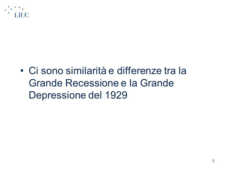 Ci sono similarità e differenze tra la Grande Recessione e la Grande Depressione del 1929 5