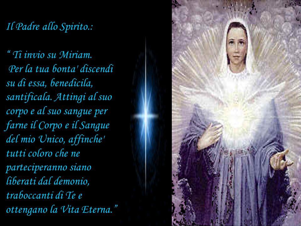 Il Padre allo Spirito.: Ti invio su Miriam.