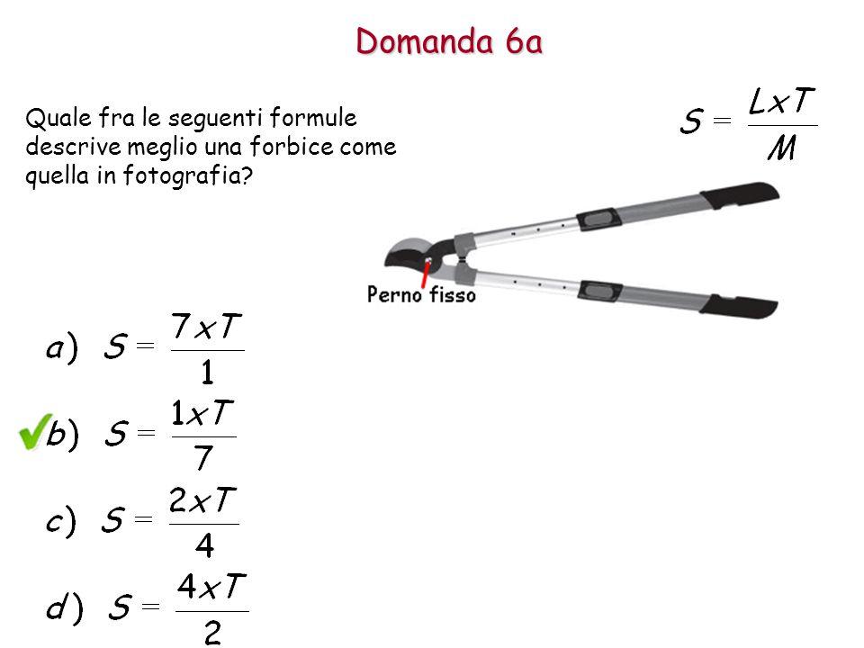 Domanda 6a Quale fra le seguenti formule descrive meglio una forbice come quella in fotografia?