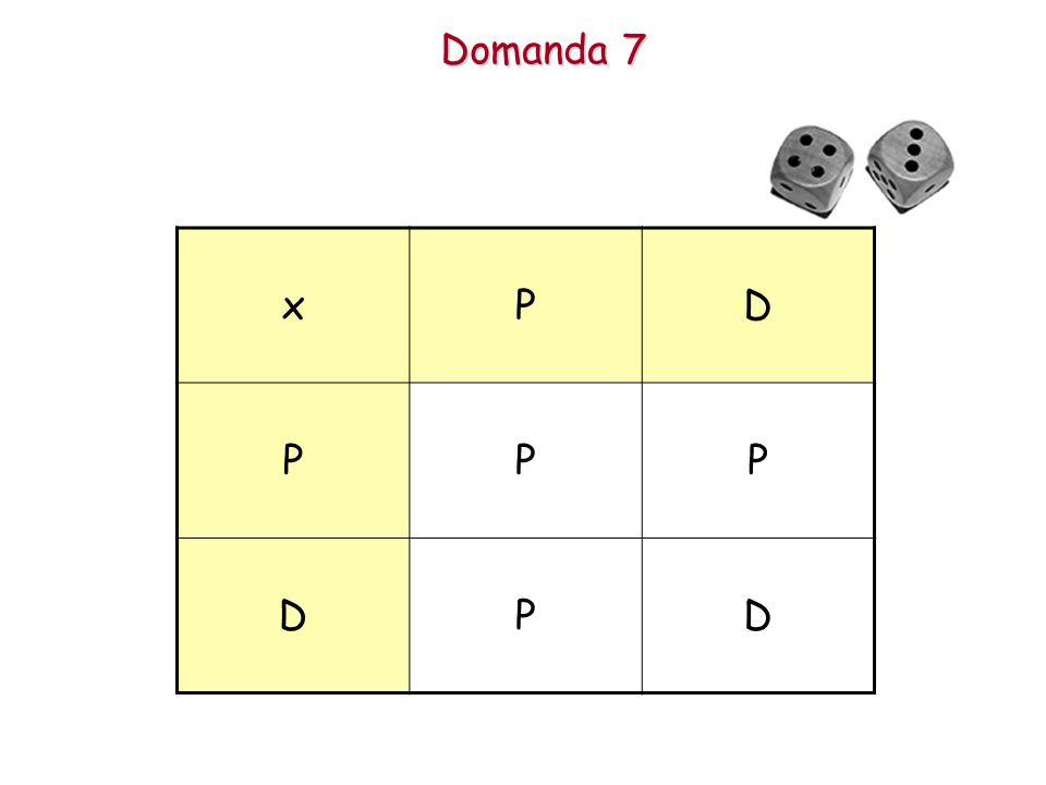 Domanda 7 xPD PPP DPD