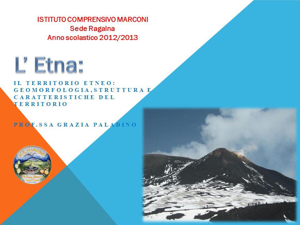 Il Monte Etna è un grande strato-vulcano di natura basaltica, alto circa 3330 m, situato lungo la costa orientale della Sicilia.