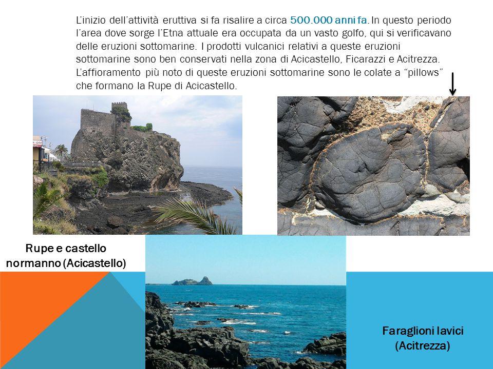 L'inizio dell'attività eruttiva si fa risalire a circa 500.000 anni fa. In questo periodo l'area dove sorge l'Etna attuale era occupata da un vasto go
