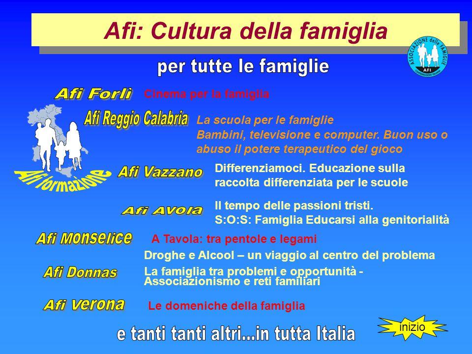 Afi: Cultura della famiglia La scuola per le famiglie Bambini, televisione e computer.