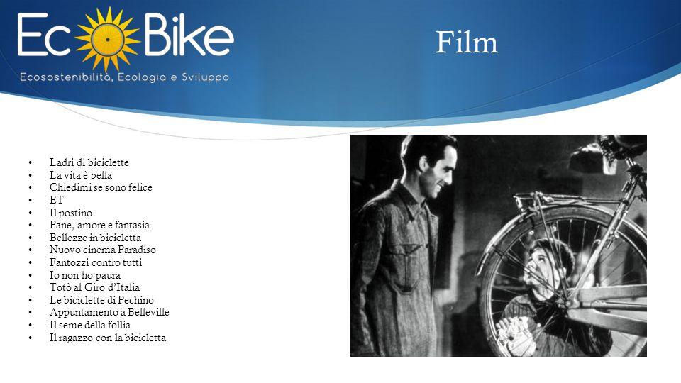Film Ladri di biciclette La vita è bella Chiedimi se sono felice ET Il postino Pane, amore e fantasia Bellezze in bicicletta Nuovo cinema Paradiso Fan