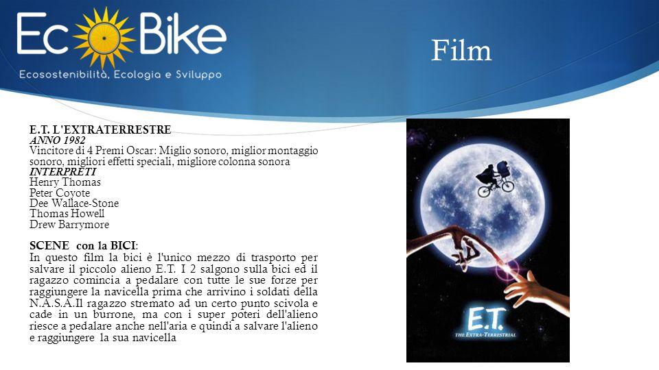 E.T. L'EXTRATERRESTRE ANNO 1982 Vincitore di 4 Premi Oscar: Miglio sonoro, miglior montaggio sonoro, migliori effetti speciali, migliore colonna sonor
