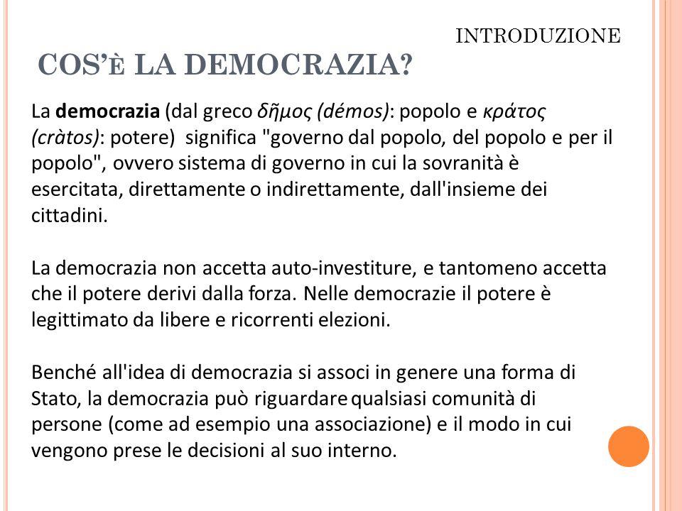 COS' È LA DEMOCRAZIA.