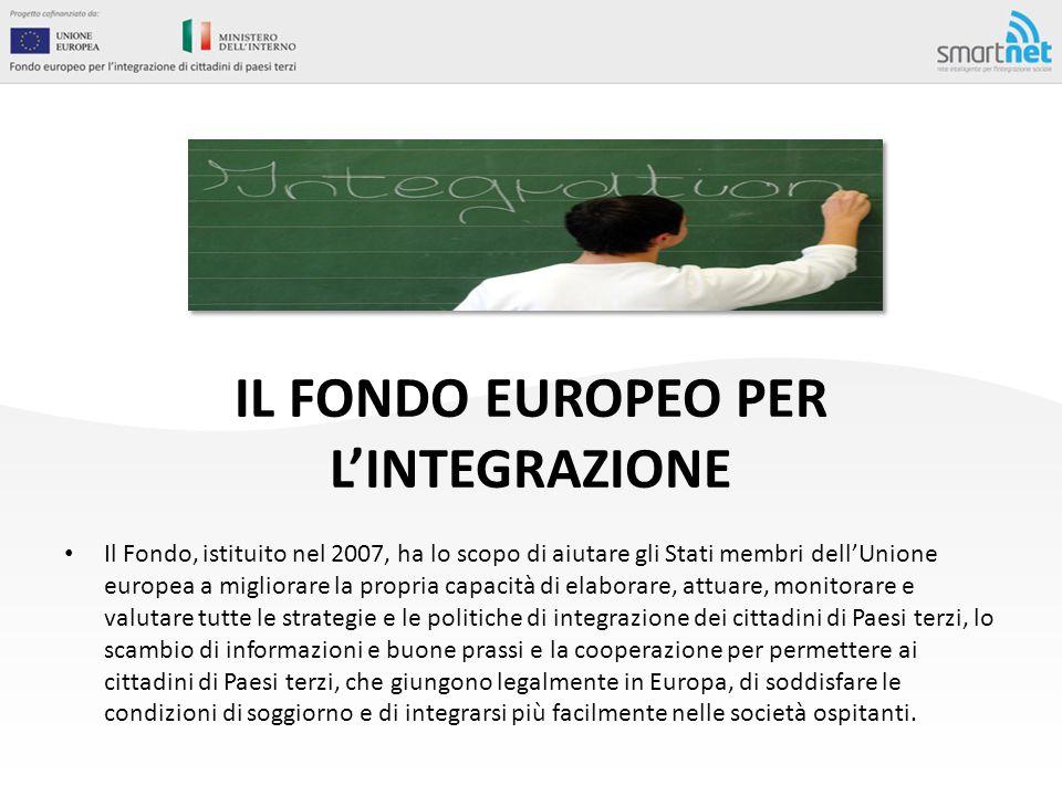 IL FONDO EUROPEO PER L'INTEGRAZIONE Il Fondo, istituito nel 2007, ha lo scopo di aiutare gli Stati membri dell'Unione europea a migliorare la propria