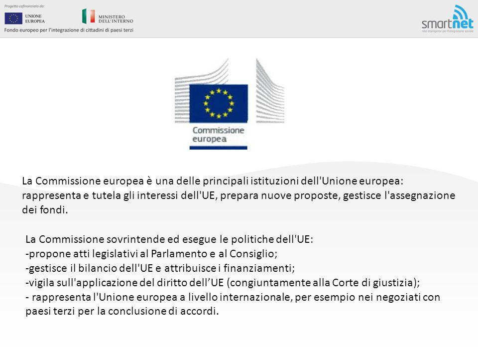 La Commissione europea è una delle principali istituzioni dell'Unione europea: rappresenta e tutela gli interessi dell'UE, prepara nuove proposte, ges