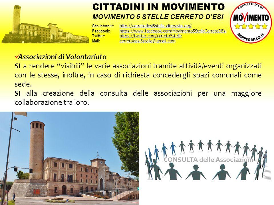 """Associazioni di Volontariato SI a rendere """"visibili"""" le varie associazioni tramite attività/eventi organizzati con le stesse, inoltre, in caso di rich"""