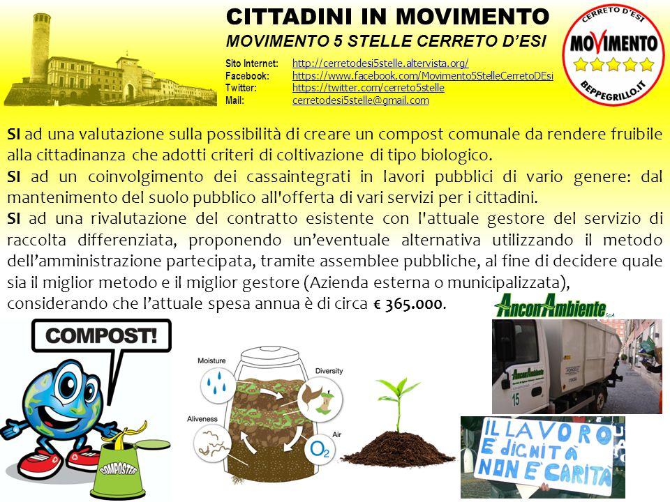 SI ad una valutazione sulla possibilità di creare un compost comunale da rendere fruibile alla cittadinanza che adotti criteri di coltivazione di tipo