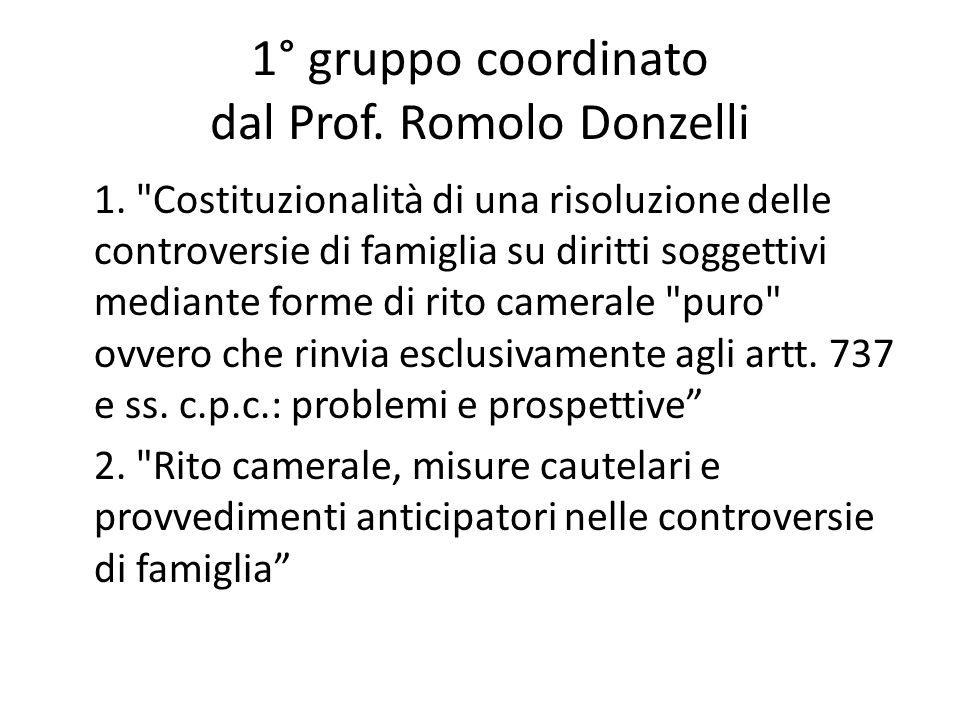 1° gruppo coordinato dal Prof. Romolo Donzelli 1.