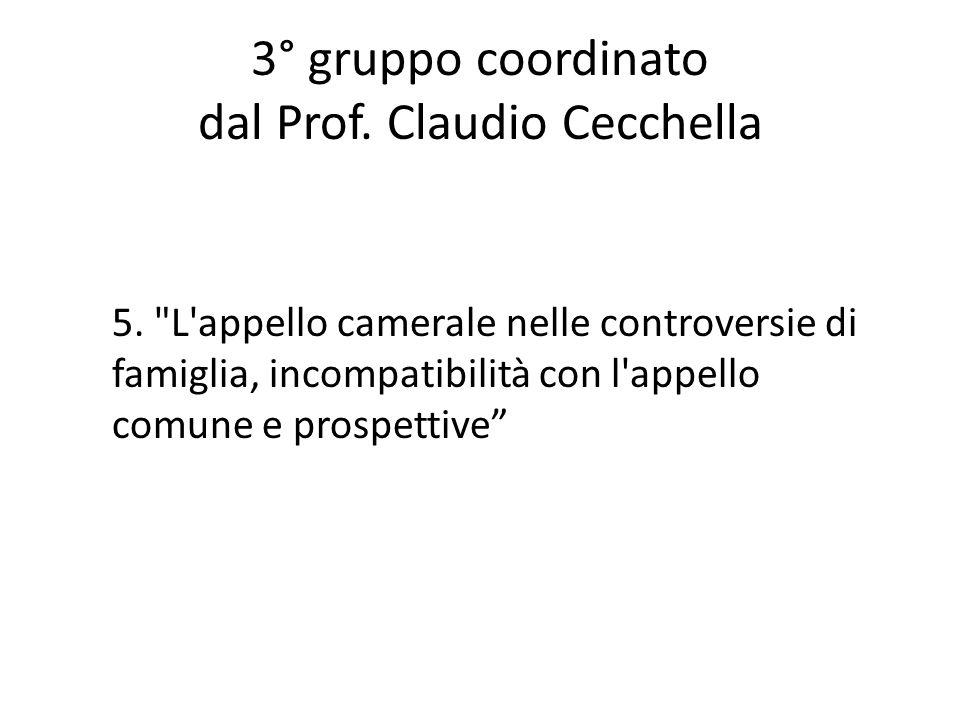 3° gruppo coordinato dal Prof. Claudio Cecchella 5.