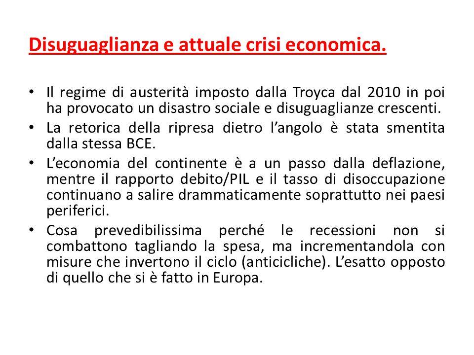 Disuguaglianza e attuale crisi economica. Il regime di austerità imposto dalla Troyca dal 2010 in poi ha provocato un disastro sociale e disuguaglianz