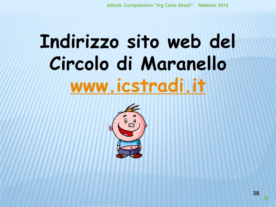 38 Indirizzo sito web del Circolo di Maranello www.icstradi.it www.icstradi.it febbraio 2014Istituto Comprensivo