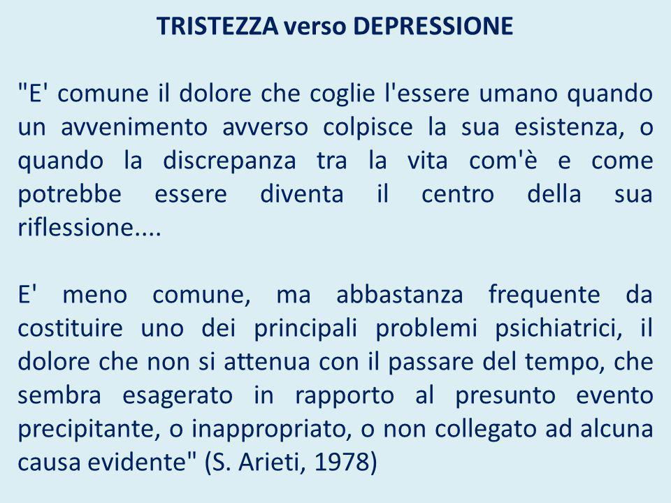 TRISTEZZA verso DEPRESSIONE