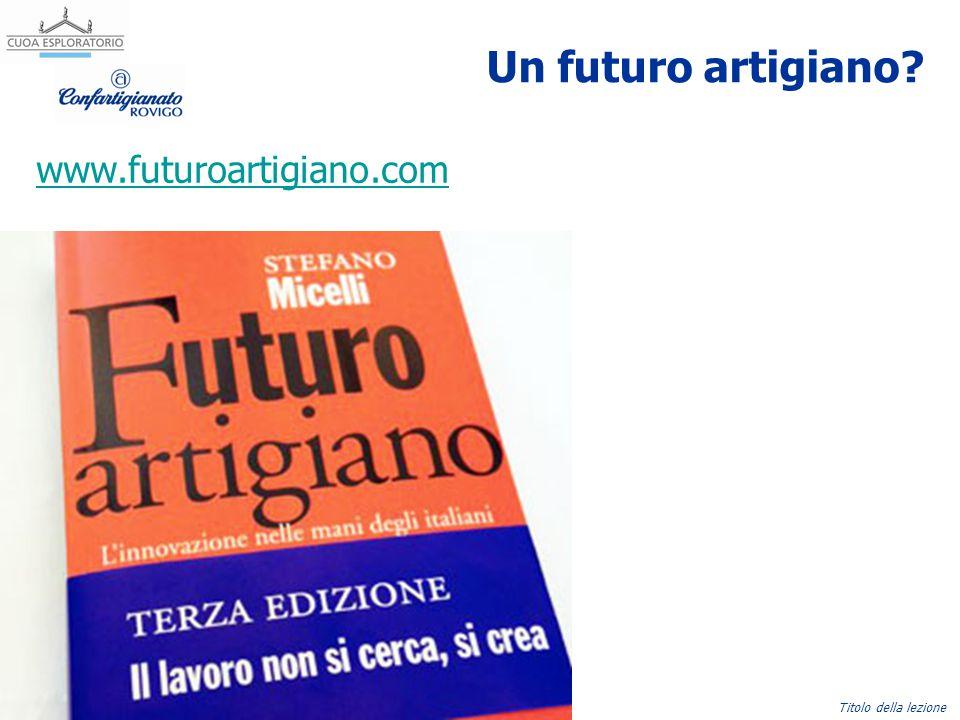 Nome Cognome, emailTitolo della lezione Un futuro artigiano? www.futuroartigiano.com
