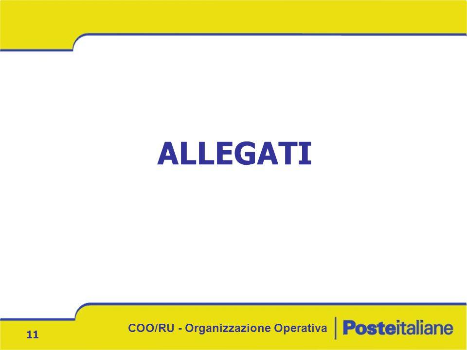 COO/RU - Organizzazione Operativa 11 ALLEGATI