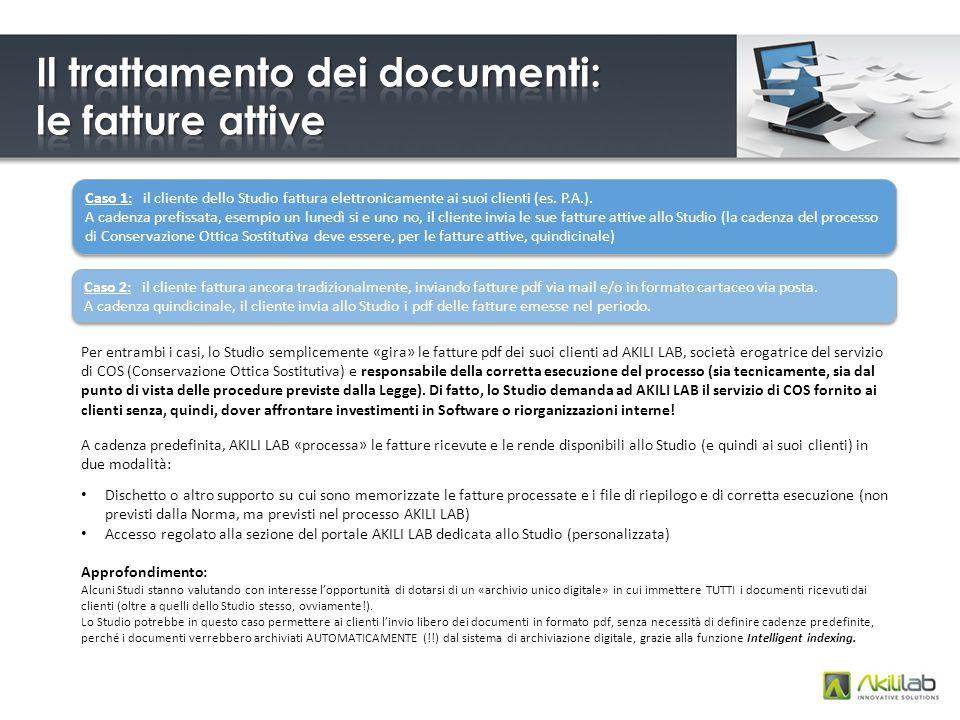 Caso 1: il cliente dello Studio fattura elettronicamente ai suoi clienti (es.
