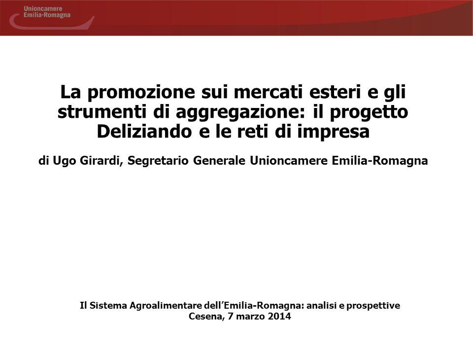 La promozione sui mercati esteri e gli strumenti di aggregazione: il progetto Deliziando e le reti di impresa di Ugo Girardi, Segretario Generale Unio