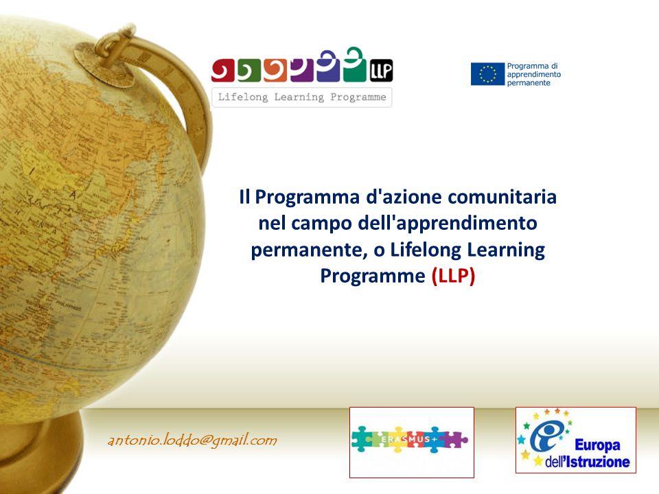 antonio.loddo@gmail.com Il Programma d'azione comunitaria nel campo dell'apprendimento permanente, o Lifelong Learning Programme (LLP)