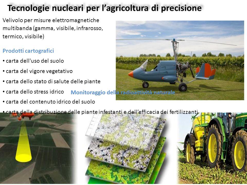 Tecnologie nucleari per l'agricoltura di precisione Velivolo per misure elettromagnetiche multibanda (gamma, visibile, infrarosso, termico, visibile)